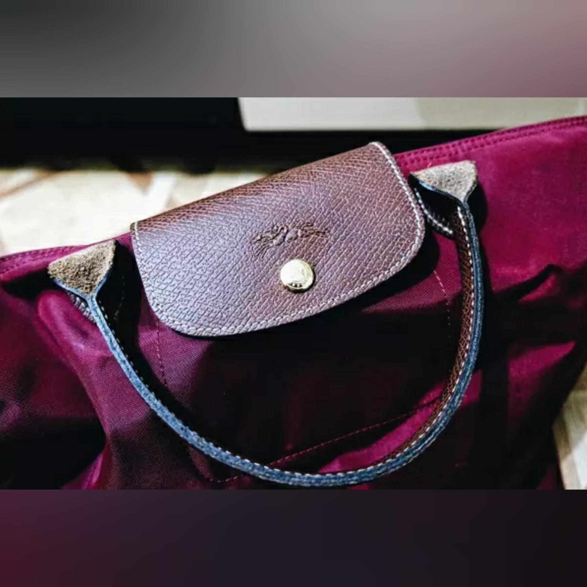 Jual Tas Longchamp Original Le Pliage Cocarde Crossbody Navy Paris