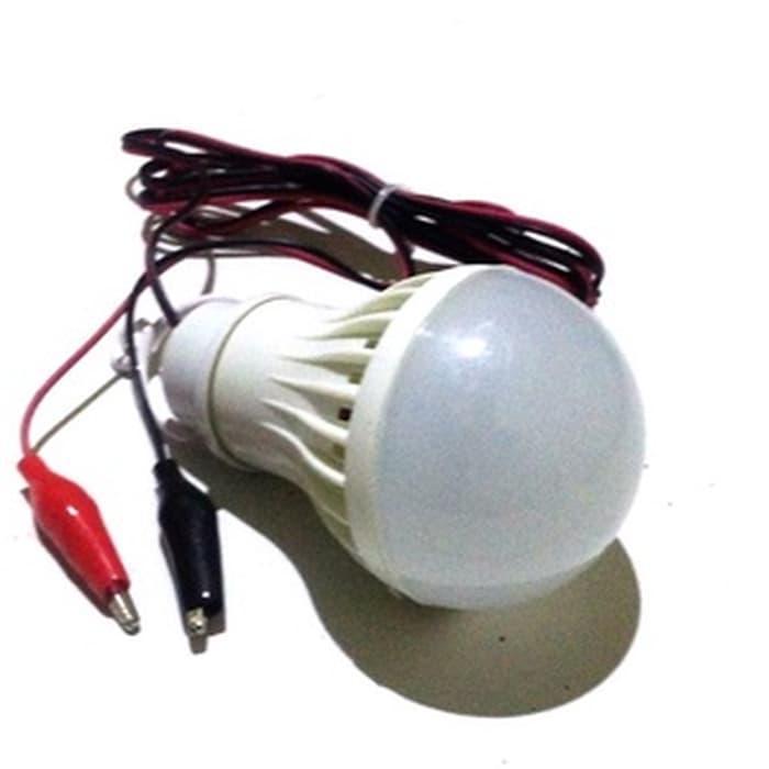 Lampu LED 3W DC 12V PUTIH Colok AKI u/ Emergeny/ Jualan 3 W Lamp Murah