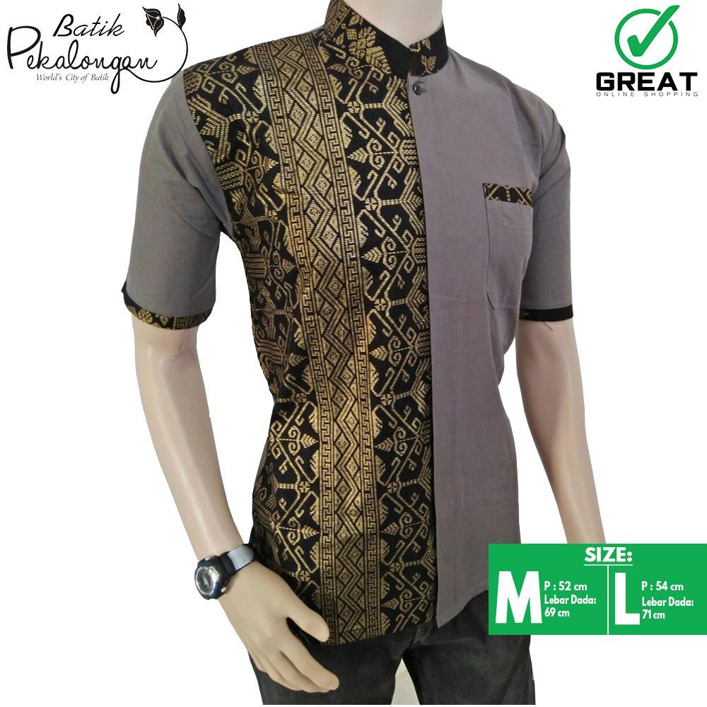 Baju Batik Koko Pria Baju Batik Modern Kemeja Batik Pekalongan Hem Koko Batik Kemeja Lengan Pendek
