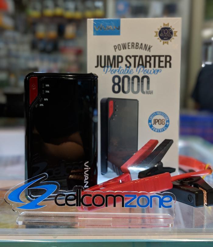 VIVAN JP08 8000MAH / JP10 NEWORIGINAL POWERBANK JUMPER MOBIL - ready stock