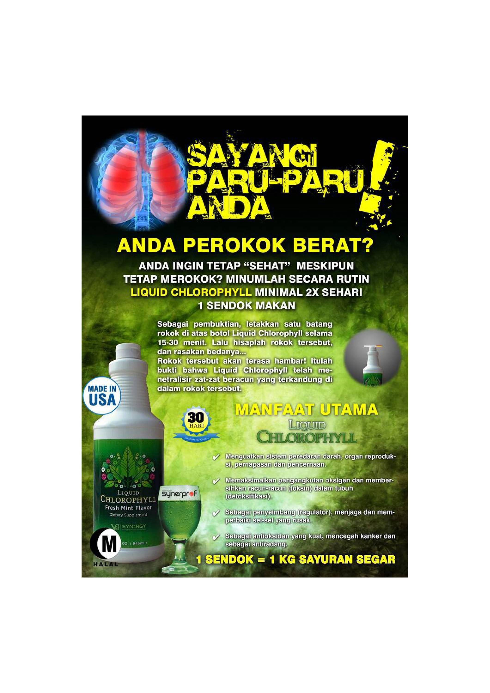Liquid Chlorophyll Kuras Racun Rokok