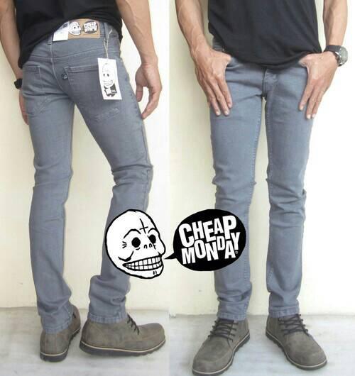 Cheap Monday Grey | Celana Jeans | Slim Fit | Abu