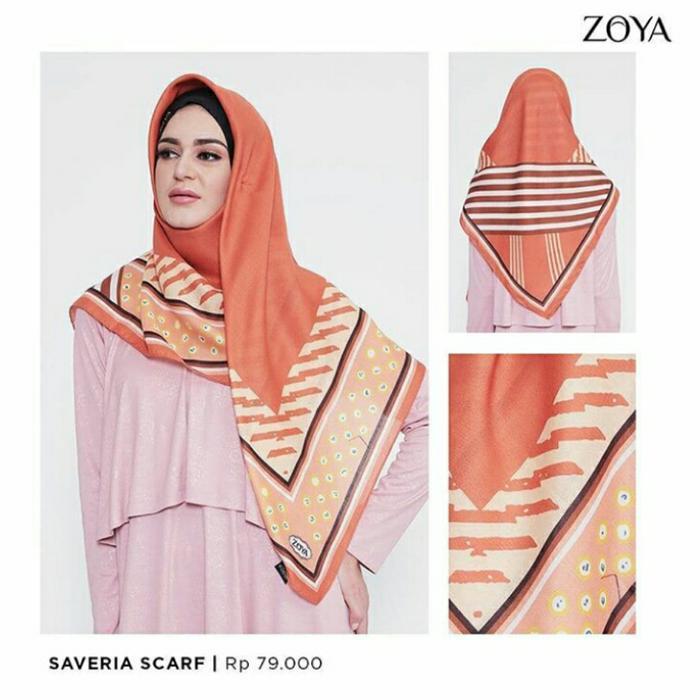 Hijab Kerudung Segi Empat PALU Scarf MEZORA Original / hijab instan / hijab segi empat /