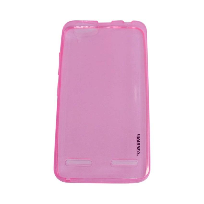 AIMI Ultrathin Case (Anti Jamur) Lenovo K5 / K5 Plus Jelly case Air Case 0.3mm / Silicone Lenovo K5 / K5 Plus / Soft Case Lenovo K5 / K5 Plus / Casing Lenovo K5 / K5 Plus - Pink