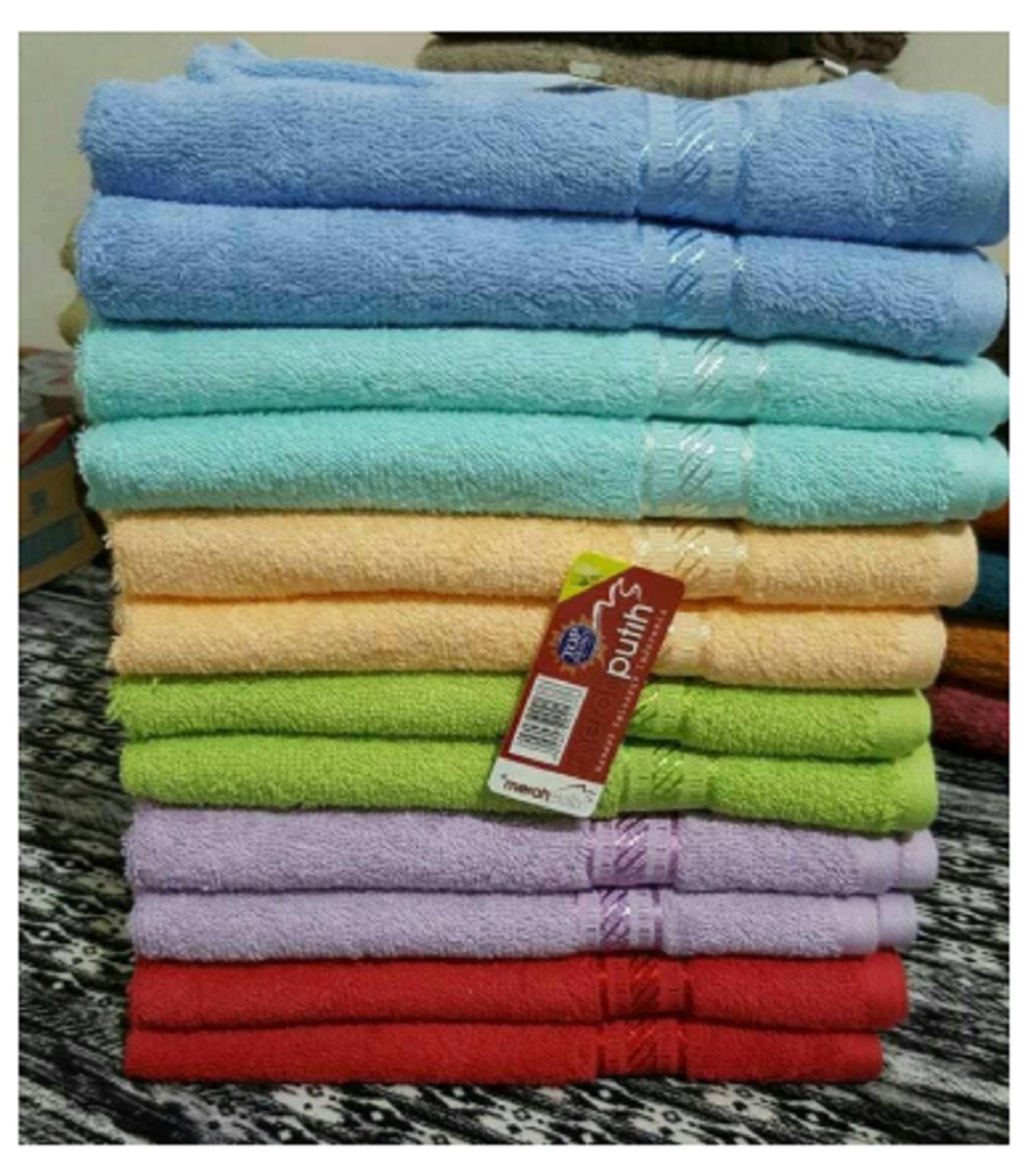 BEST SELLER Handuk Merah Putih Dewasa Uk 70 x 140 - 1 Pcs