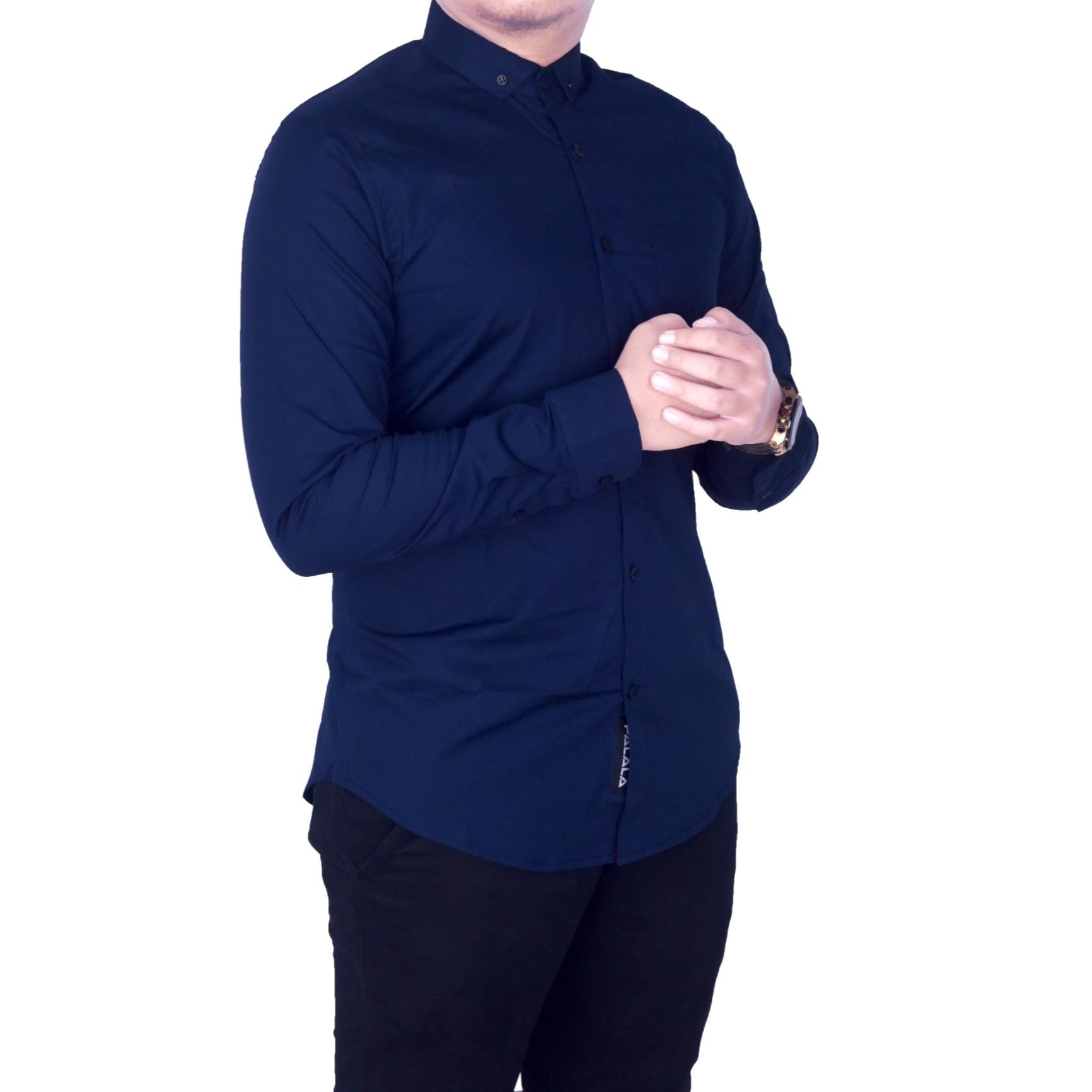 bsg_Fashion1 Kemeja Polos Lengan Panjang Pria Navy/Kemeja Woll/Kemeja Distro/Kemeja Formal/Kemeja Sholat/Kemeja Murah/Kemeja Hem/Kemeja Kemeja Swage/Kemeja Formal/Kemeja Young Lex/Kemeja Kerja/Kemeja Batik PX 4607