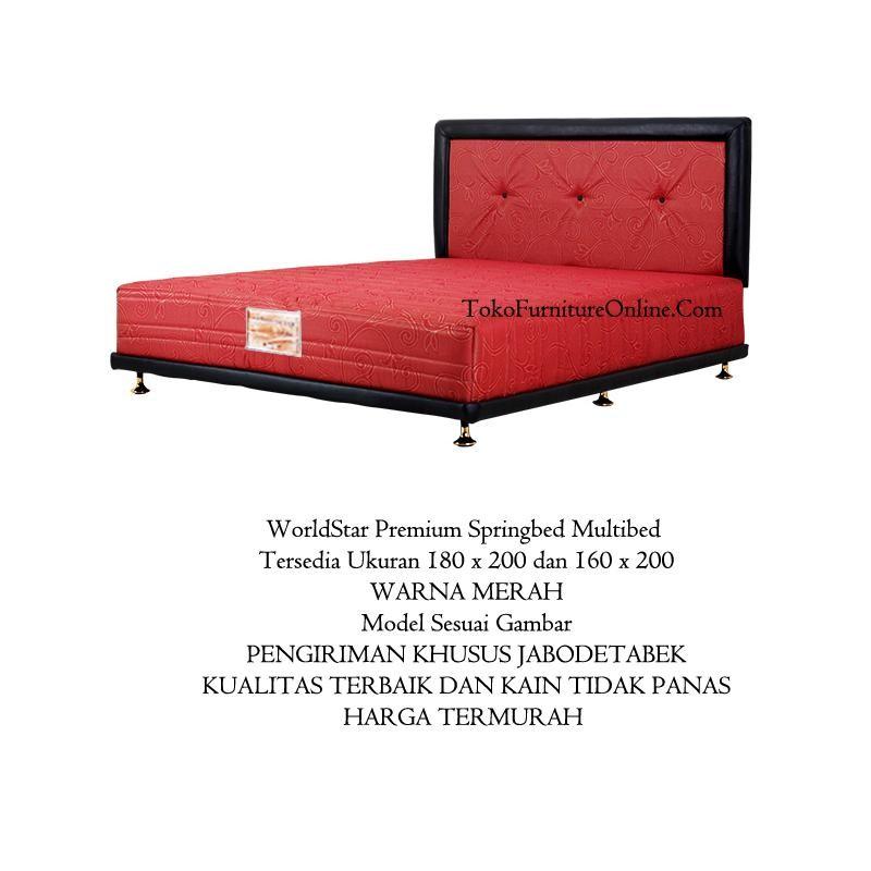 Spring Bed Springbed Tempat Tidur Pegas Per Lesehan Pendek MULTIBED 160 x 200  MERAH