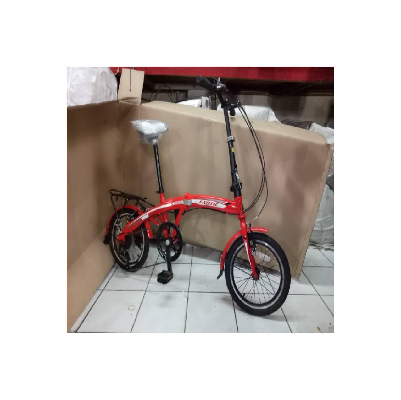 sepeda anak 16 lipat exotic 7 sp 2625 bangku stang bisa ditinggikan