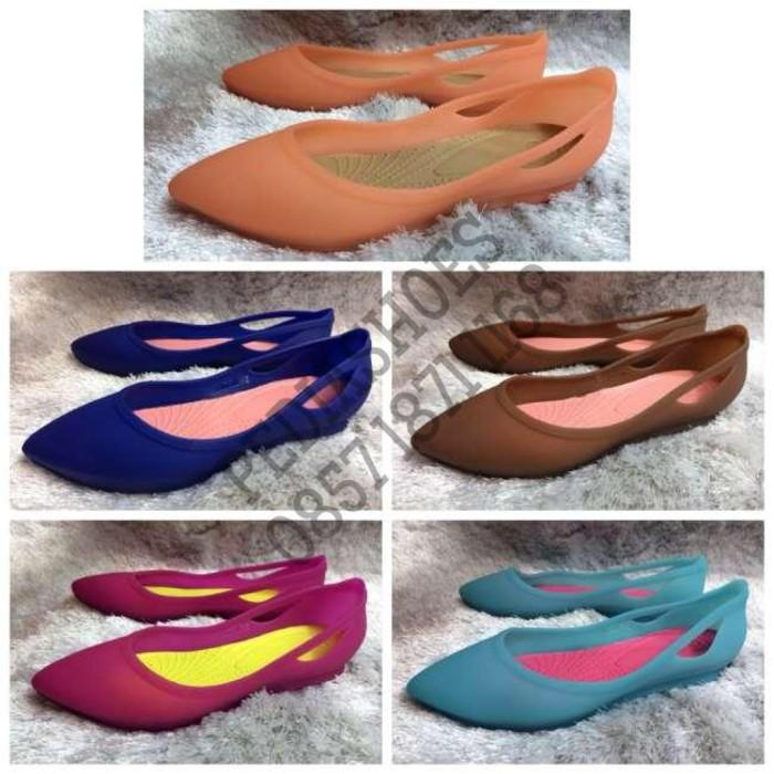 Promo (GARANSI TERMURAH) Sepatu Wanita Crocs Rio Flat Original Gratis Ongkir