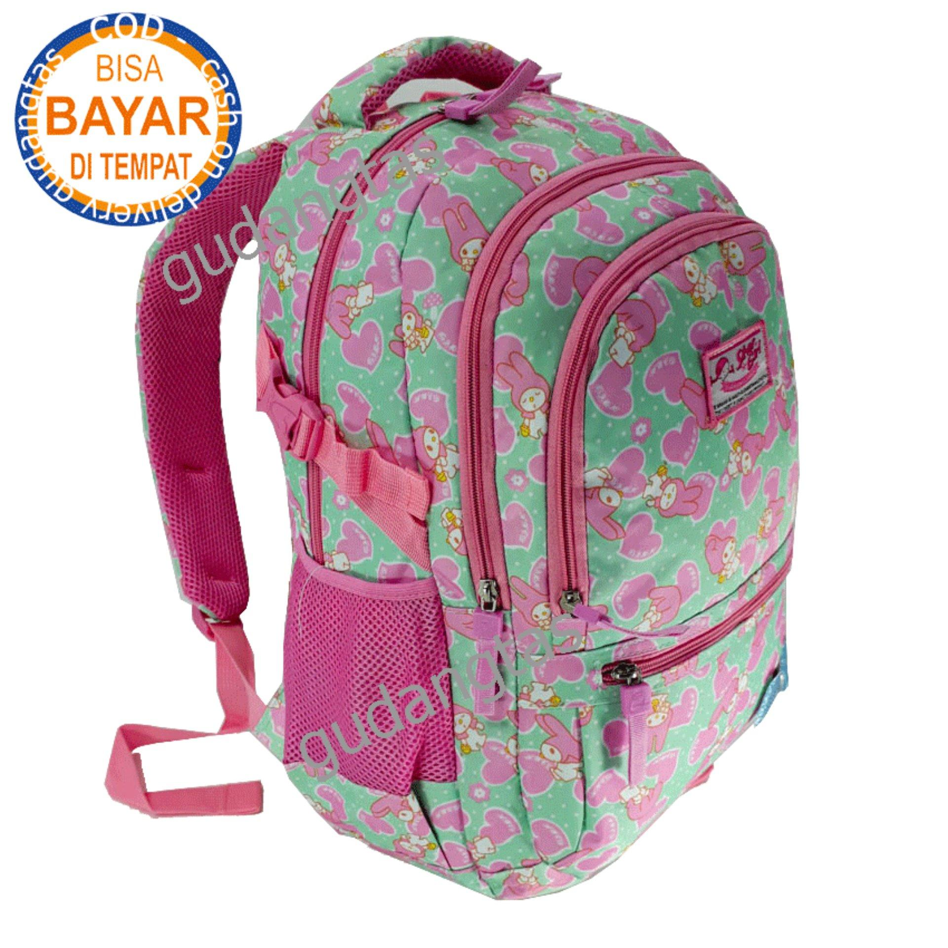Alto Backpack Super Tas Sekolah Tas Kuliah Tas 73677V Ransel Laptop  HIJAU + Raincover