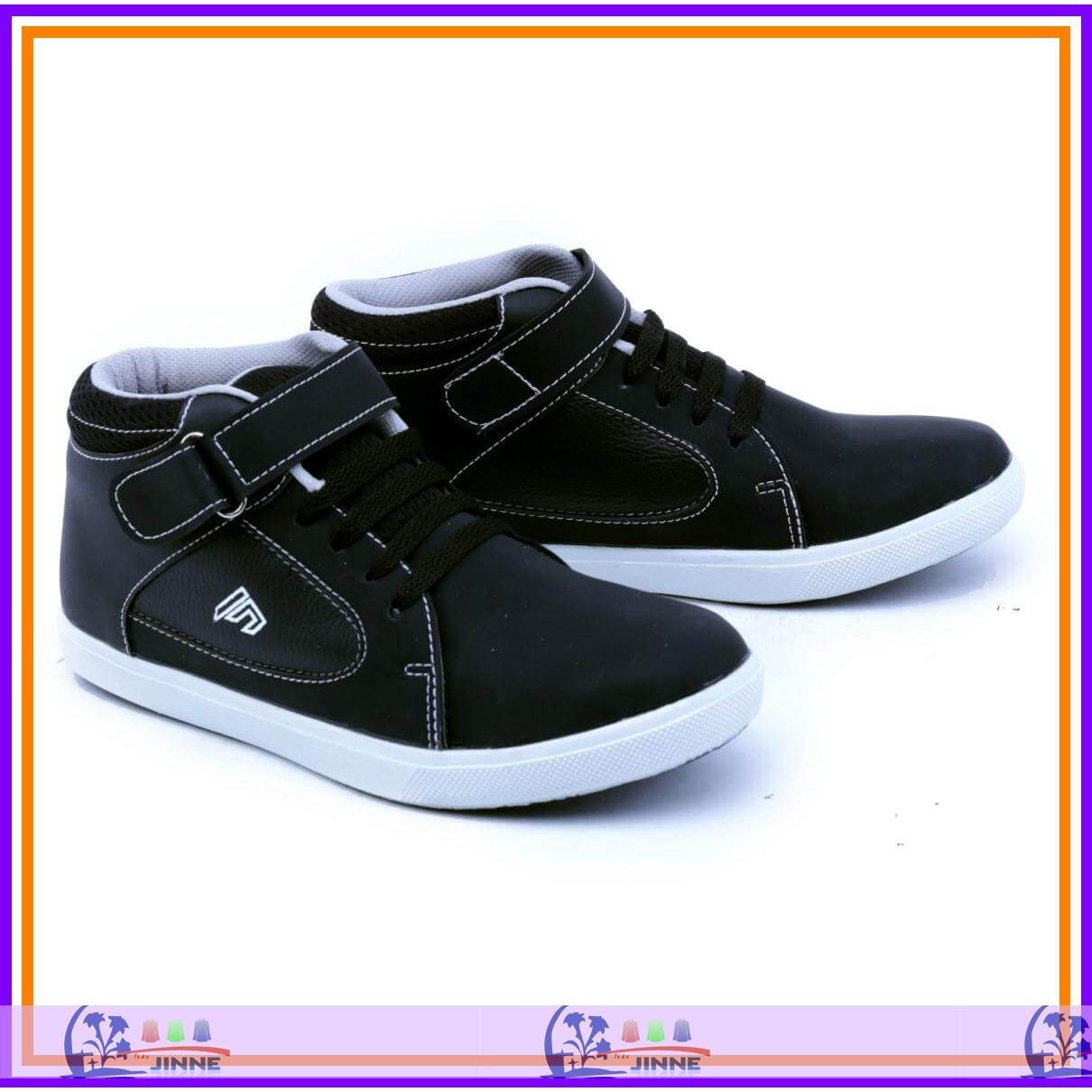 TJGDA 9508 Sepatu Sneakers Anak laki laki warna hitam Sepatu sekolah