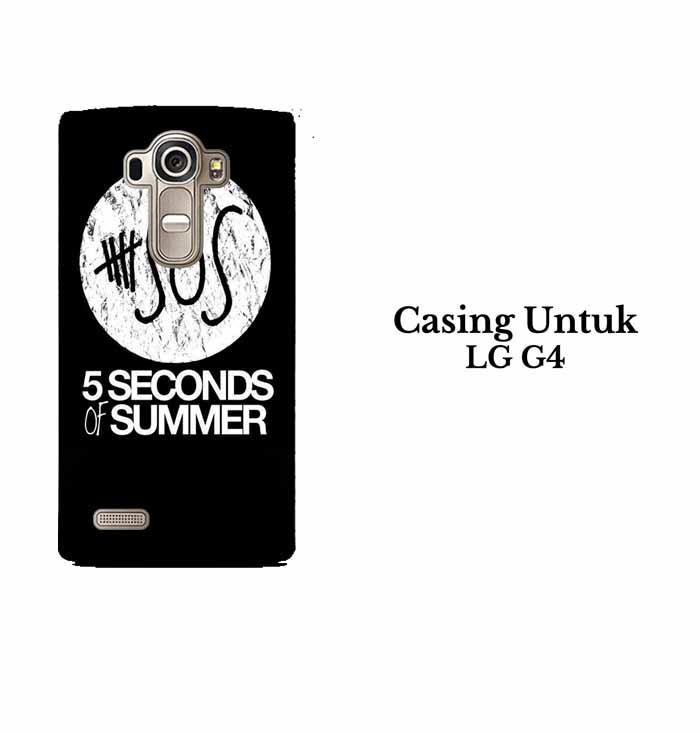 Casing LG G4 5 Second Of Summer Log Hardcase Custom Case Se7enstores