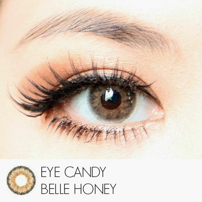 Promo Warna Mata  Softlens Eyecandy Belle Honey - Brown Coklat Madu