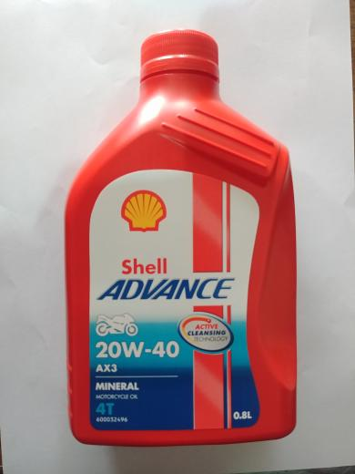 Oli Shell Advance Ax3 20W 40 0.8L
