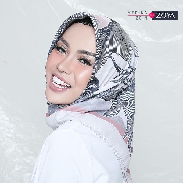 Medina Zein for Zoya - Kerudung Hijab Segiempat - Camilla Scarf