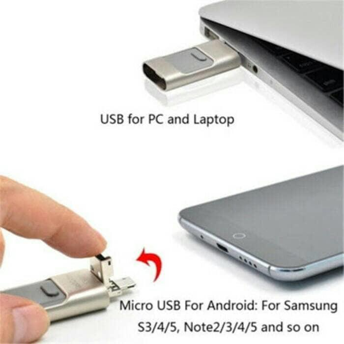 SALE - Flashdrive Flashdisk OTG IPHONE 3in1 128gb For all iphone,PC & IOS Original