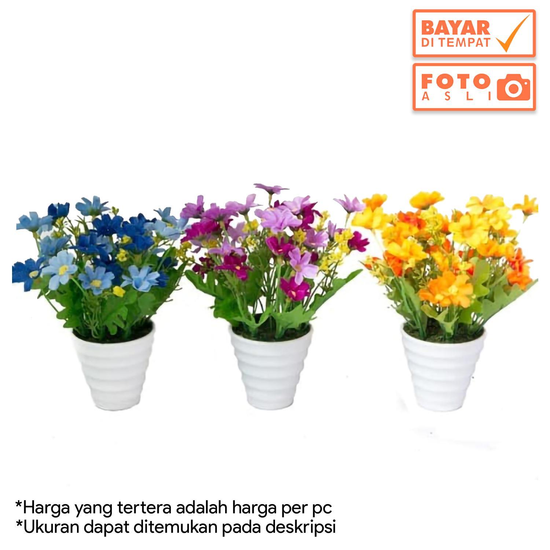 Dekorasi Rumah - Buket Bunga Krisan Mini Artificial Vas Melamin Murah bfda8da09e