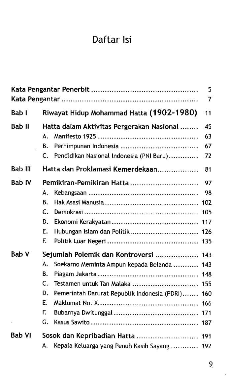 Buku MOHAMMAD HATTA Biografi Singkat