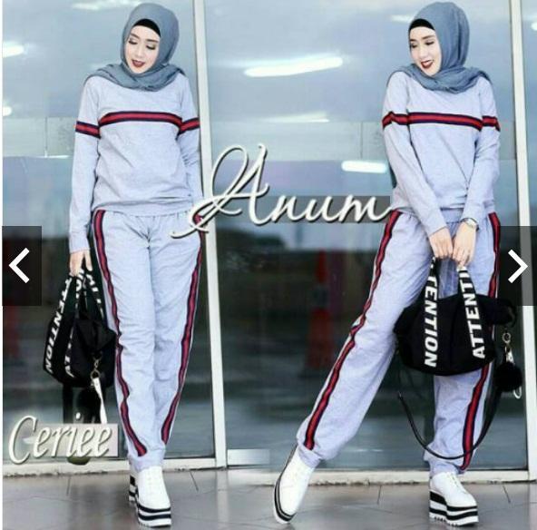 Anum / anum set / baju olah raga muslimah / baju santai