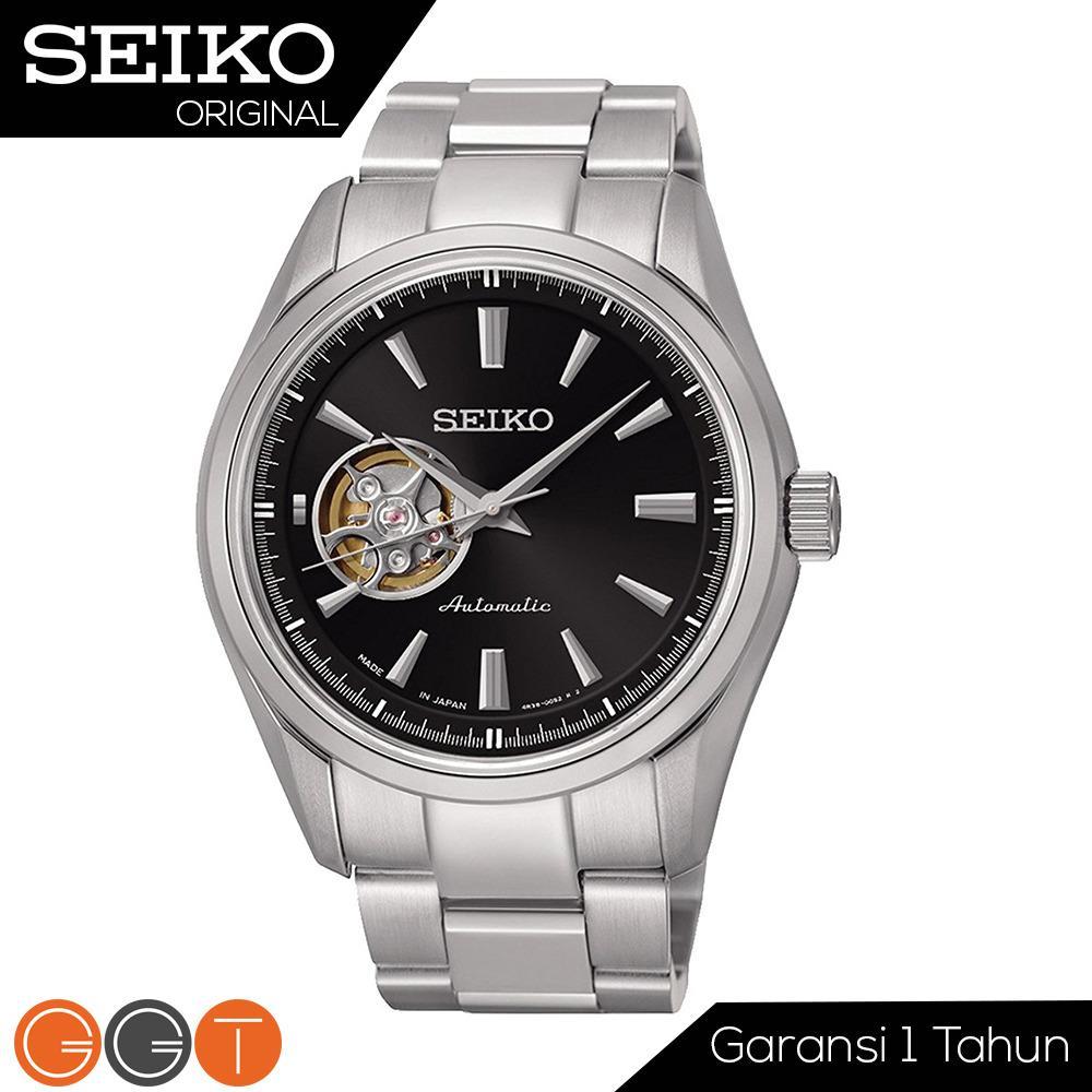 Seiko Presage Automatic - Jam Tangan Otomatis Pria - Strap Stainless Stell - SSA257J1 - Black Promo