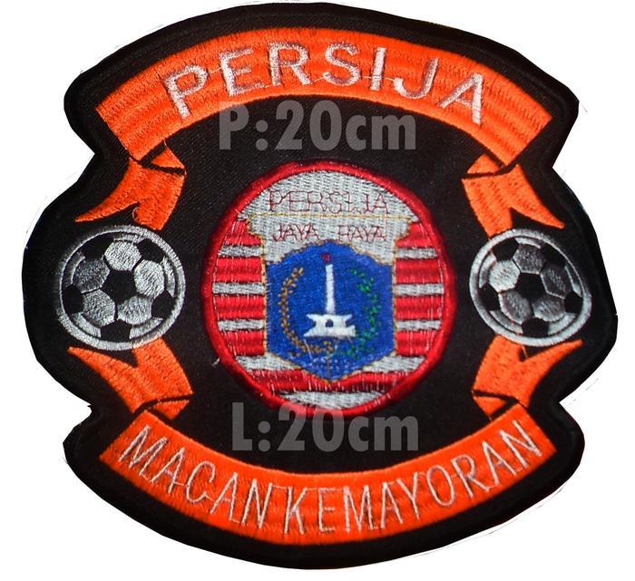 Hemat 10%!! Emblem Bordir Persija Jakarta Bola Besar - ready stock