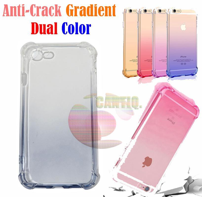 Case Anti Shock Gradient iPhone 7 Ukuran 4.7 inch Ultrathin Anti Crack Elegant Softcase Anti Jamur Air Case 0.3mm / Silicone Iphone 7G / Soft Case / Silikon iphone 7G Anti Crack Warna / Case Hp / Case iphone 7g / Pelindung Hp - Hitam / Black