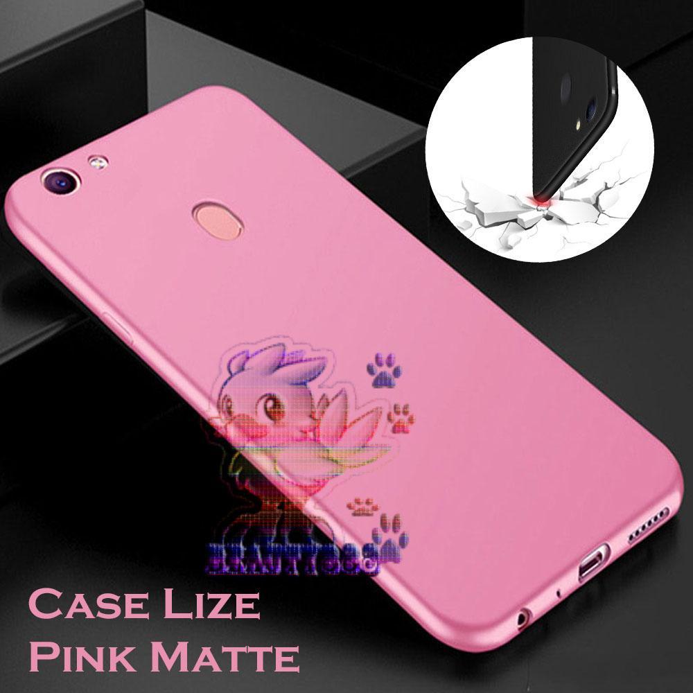 Lize Case Oppo F7 Rubber Silicone Anti Glare Skin Back Case / Silikon Oppo F7 / Jelly Case / Ultrathin / Soft Case Slim Pink Matte Oppo F7 / Casing Hp / Baby Skin Case - Pink / Pink Muda