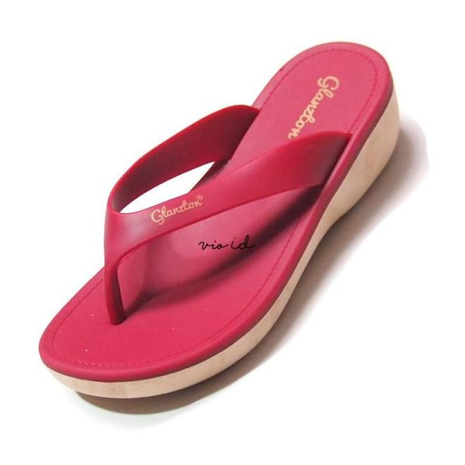Glanztone - Sandal Jepit Cewek Sendal Karet Wanita Import Warna Dikirim Acak JLT-L1830