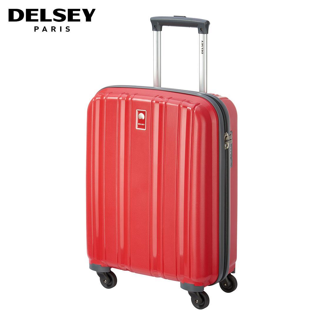 Delsey Cervin 55 cm Tas Koper Kabin Hard Case - Merah