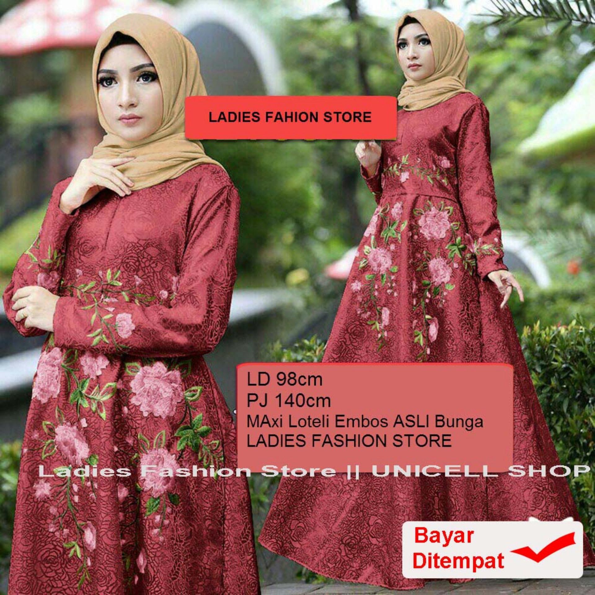 Gamis Terbaru 2019 Dress Gamis Muslim Iyana/ Set Terusan Maxi Hijab Syar'i/ Syari Simple Elegant / Baju Muslimah Wanita / Kebaya Modern Baloteli Tanpa Pasmina (anaay) SS - Maroon / Gaun Pesta