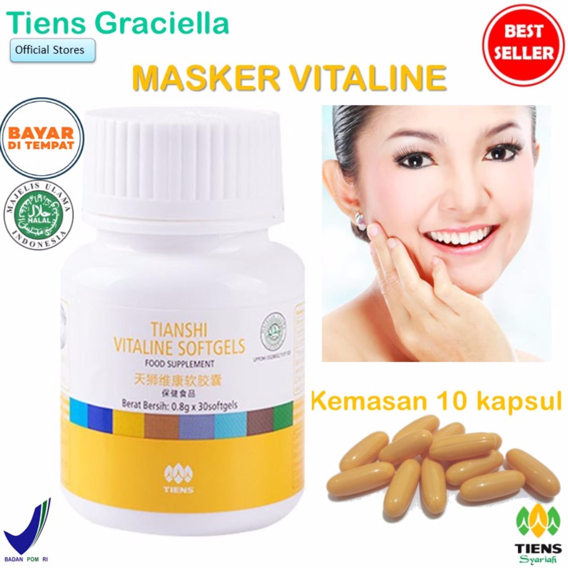 Tiens Promo Spesial Vitaline - Vitamin E Pembersih Flek & Jerawat 10 softgel + GRATIS Kartu Diskon Tiens Graciella