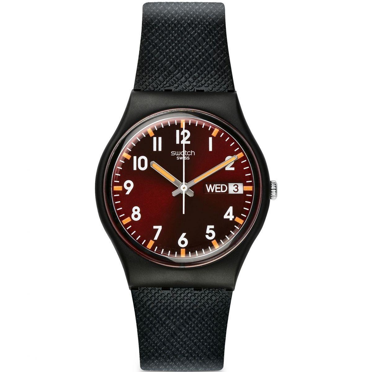 Swatch - Jam Tangan Pria - Hitam - Rubber Hitam - GB753 ef259b71ef