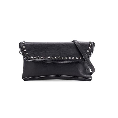 Tas Studded Zipper Wristlet Clutch Bag