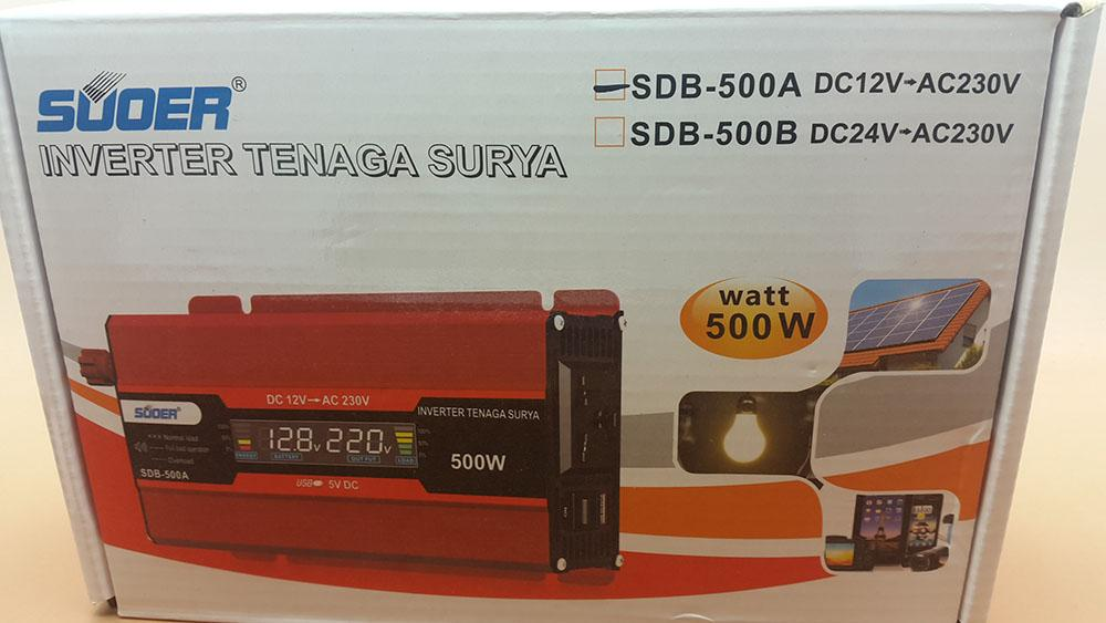 Inverter SUOER 500w with LCD Display SDB-500A