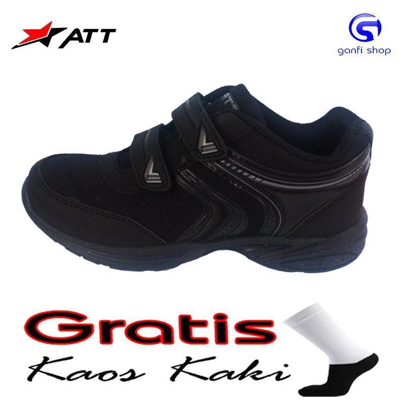 ATT OR 777 Sepatu Anak Sepatu Sekolah Warna Hitam Polos ...