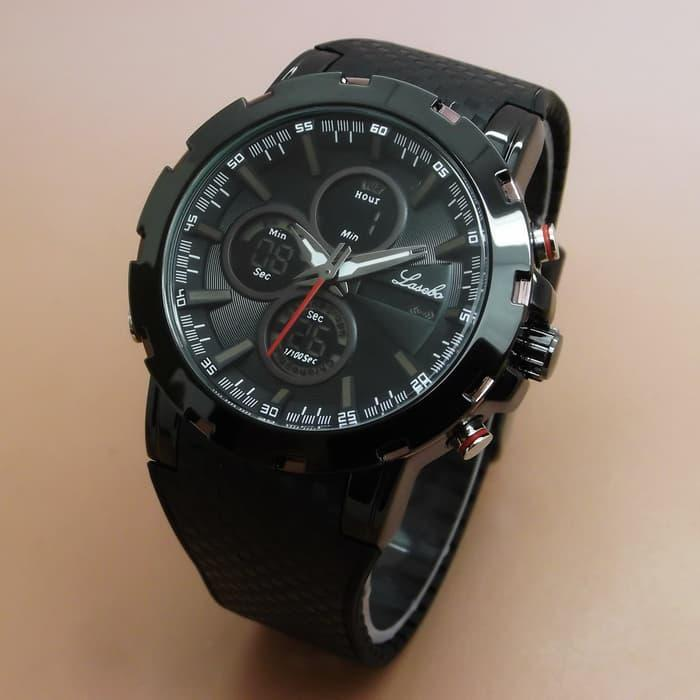Lasebo LSB-8037 Original Jam Tangan Pria Rubber List Brown