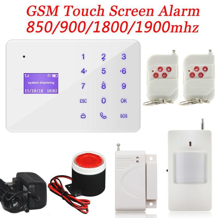 Alarm GSM Wireless Untuk Rumah Ruko  A2 Layar LCD dan Touch Pad SET01