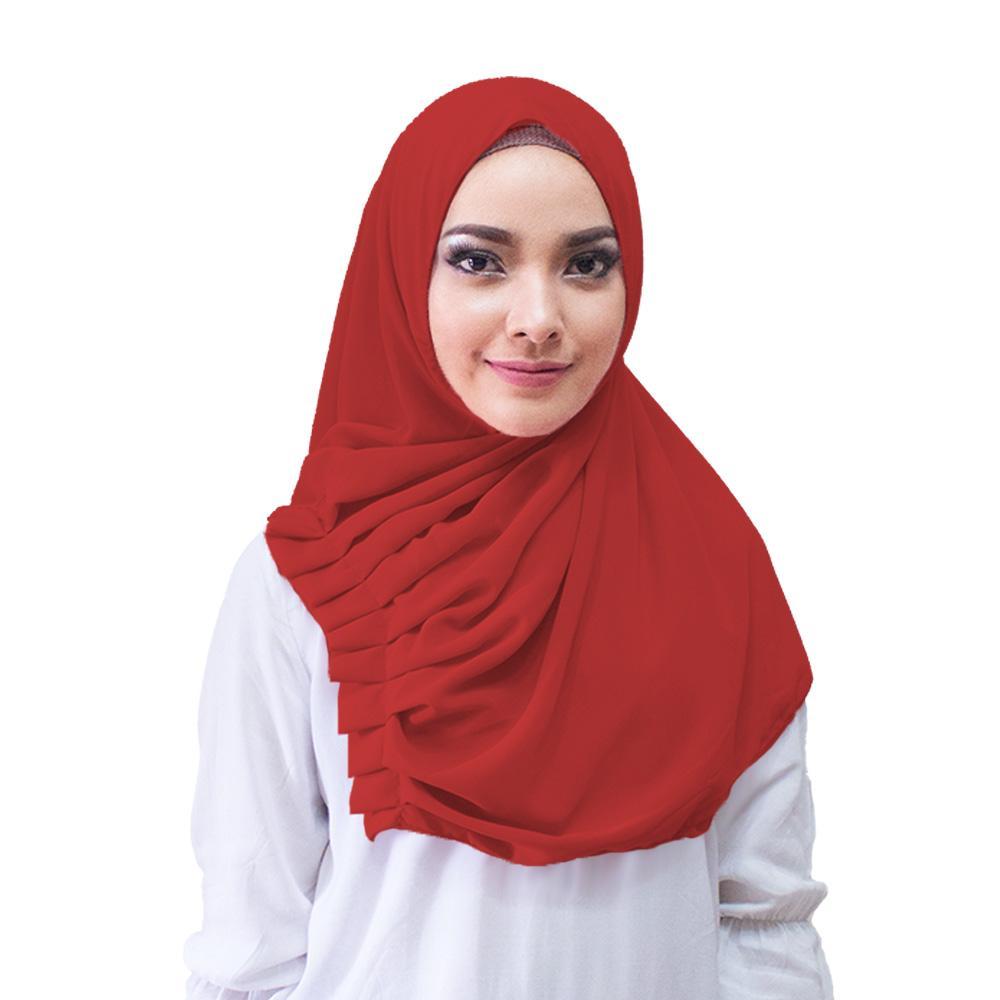 Jilbab Instan Alya Hijab Kerudung Instan - [Warna Merah]
