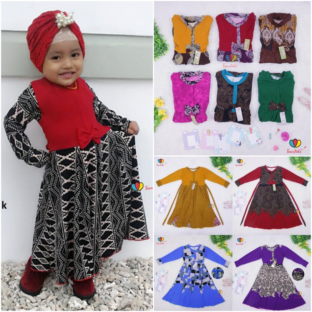 Baju Gamis Anak Perempuan 5 Tahun Ngaji Dress Lengan Panjang Murah Pesta Anak Jilbab