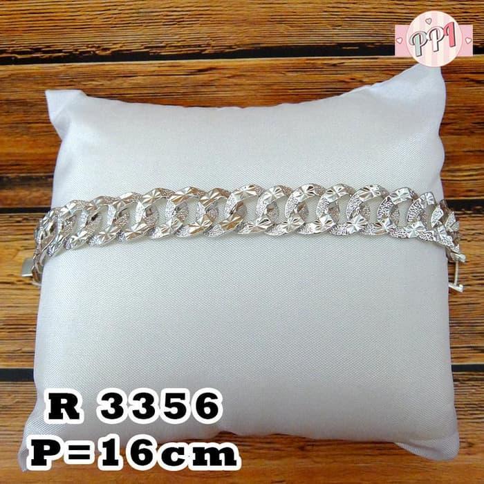 Gelang Tangan Emas Putih Rantai Sisik Naga R 3356