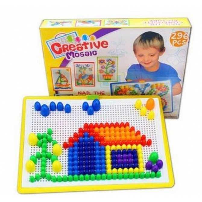 Mainan Edukasi Susun Paku Puzzle 296pcs Jamur Mainan Anak b4c62bbded