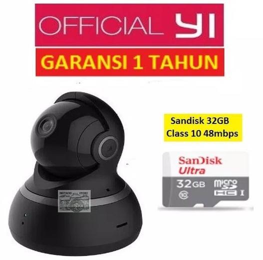 Bundle Xiaomi Yi Dome CCTV 1080 International plus Memori Sandisk 32gb