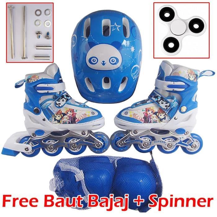 Sepatu Roda Anak Full Set Komplit (Inline skate + Helm + Dekker 1 Set) ff7930ba9a
