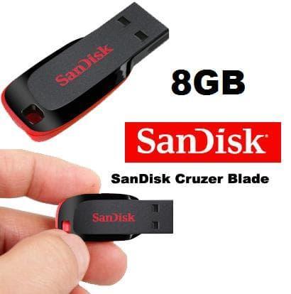USB Flashdisk FD FlashDrive SanDisk 8GB - 8 GB Cruzer Blade Original Ori Resmi Baru San