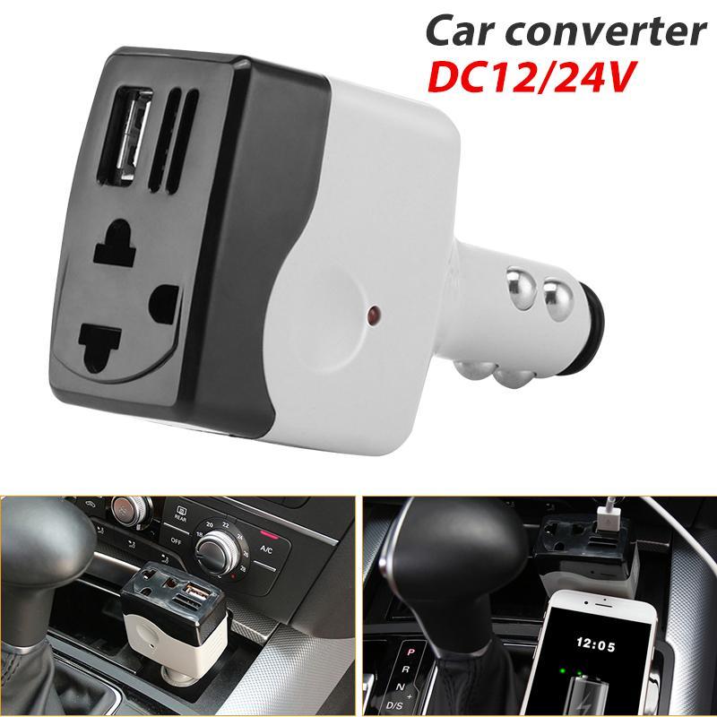 Efashionmall Inverter Mobil Mobil Conventer Efisien DC12/24 AC220V Mobil Outlet