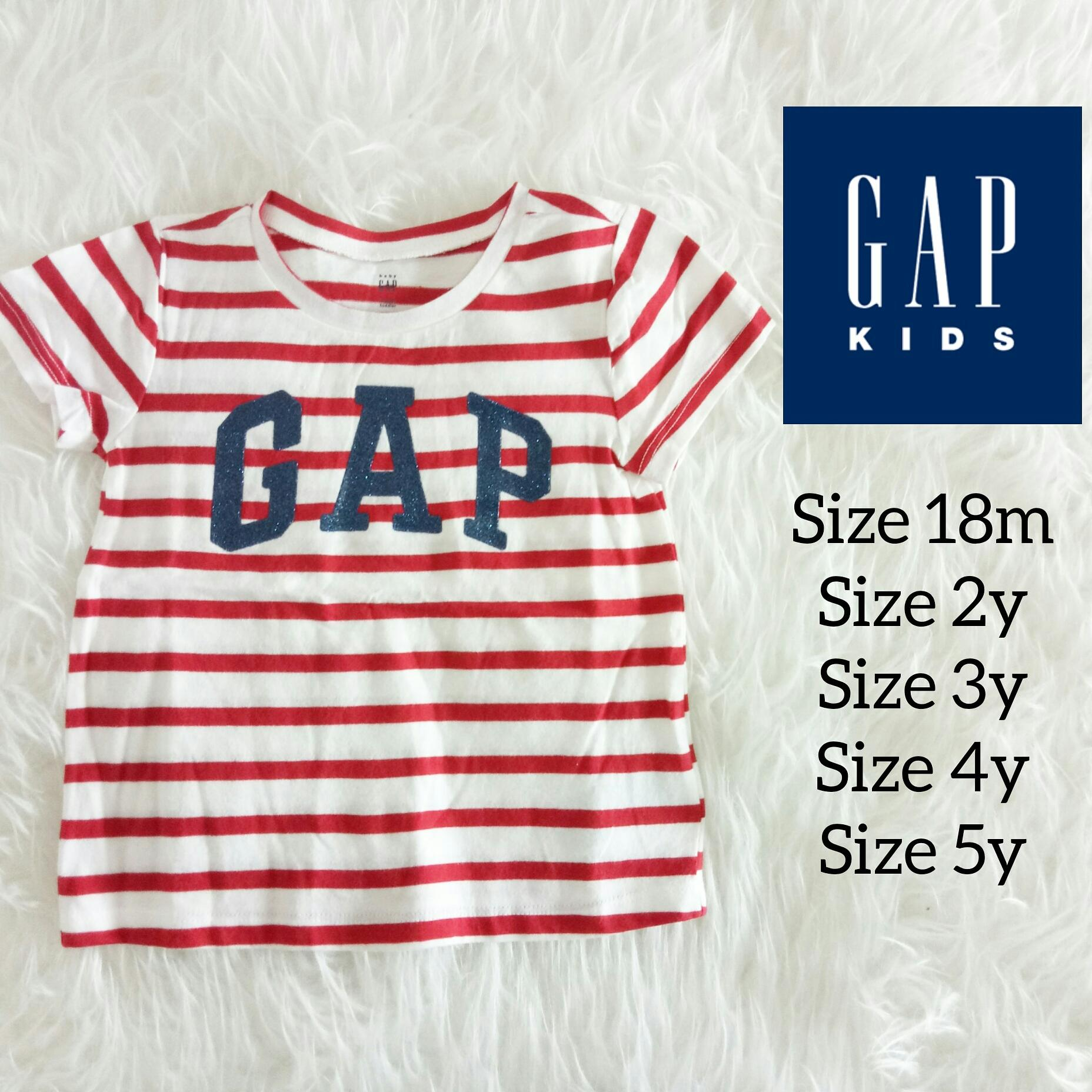 Buy Sell Cheapest Promo Gap Tee Best Quality Product Deals Kaos Snow Stripe Size 18m 5y