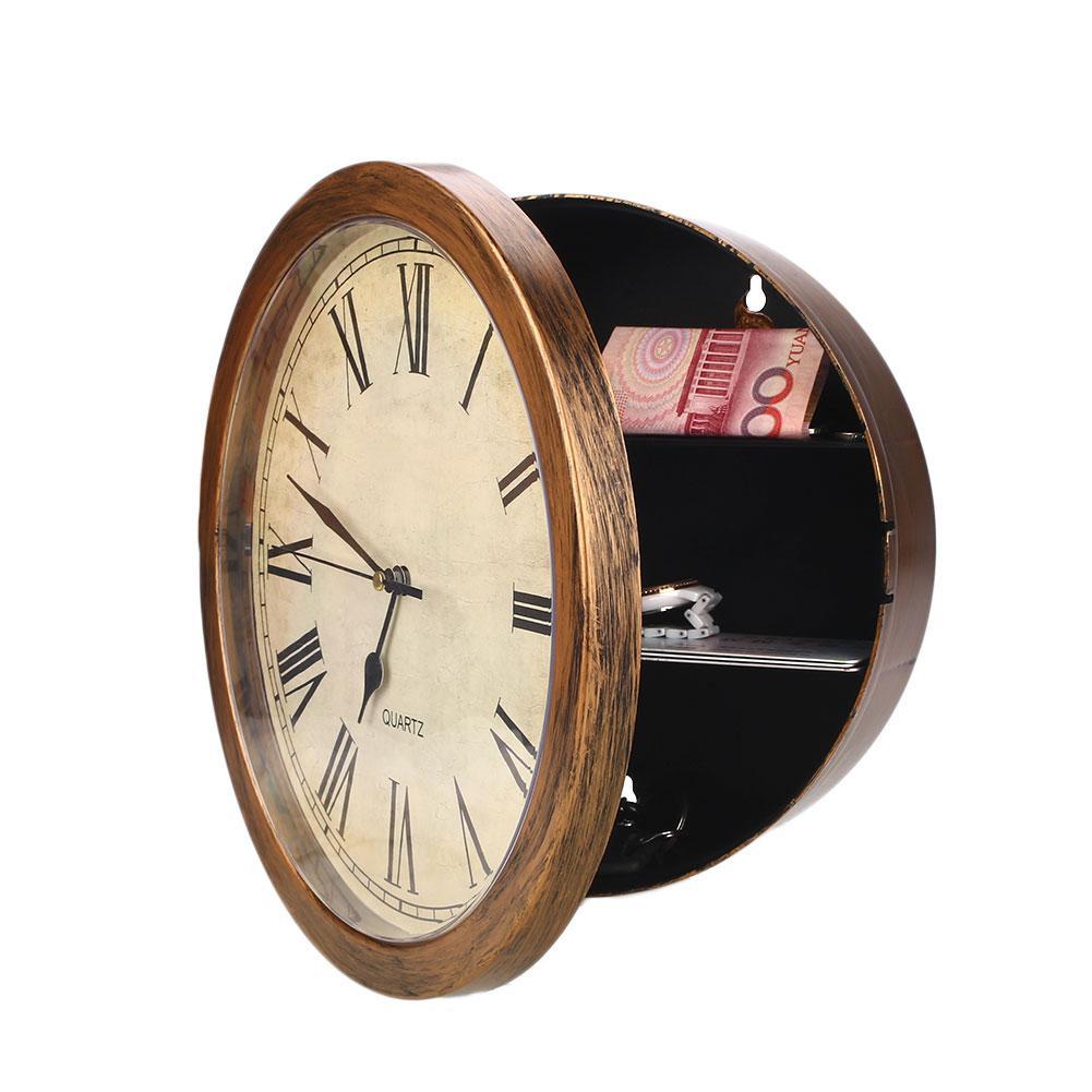 Jam Emas Brankas Dinding Arus Watchs Kotak Penyimpanan Aman Barang Berharga  Penyimpanan e5401fe558
