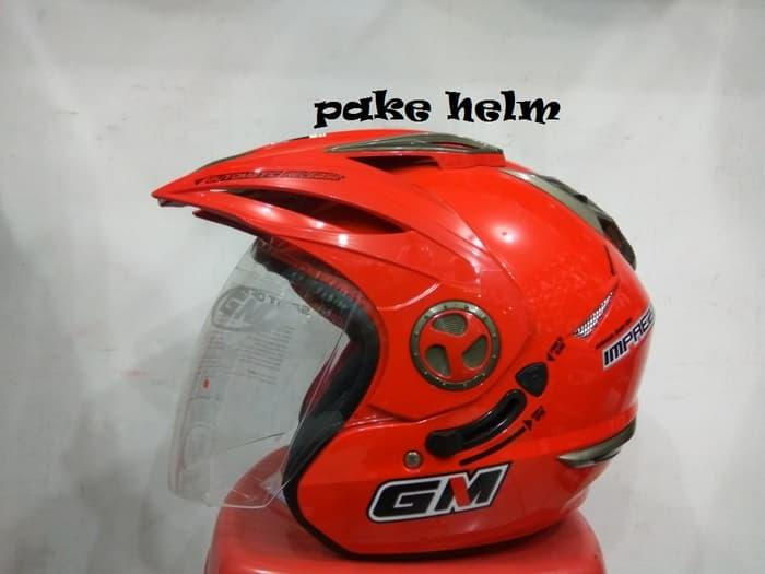 HELM GM NEW IMPREZZA MERAH FERRARI HALF FACE