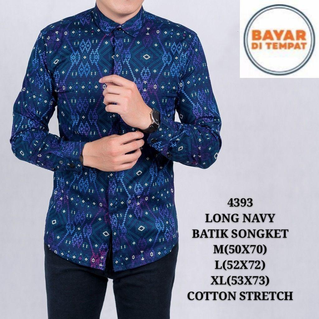 Kemeja Batik Songket Lengan Panjang/kemeja Pria Batik Songket Murah Premium By Teramedia.