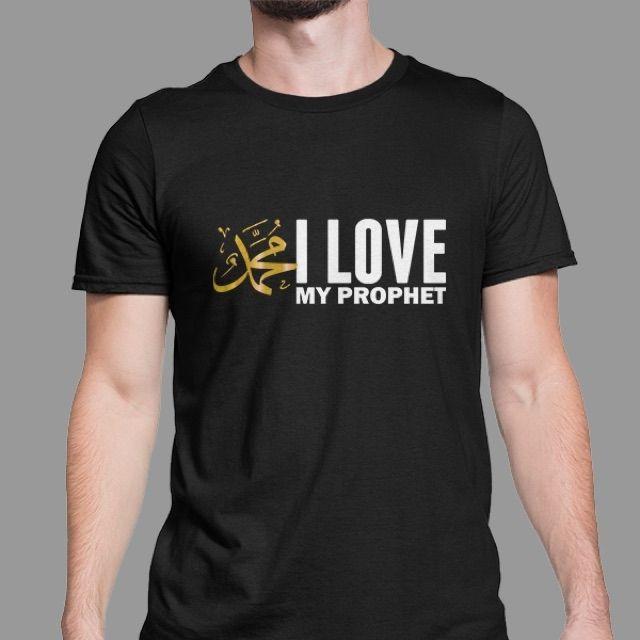 Kaos Tshirt Dakwah Islami Muslim I Love My Prophet Baju Distro Pria Wanita Katun Combed 30s